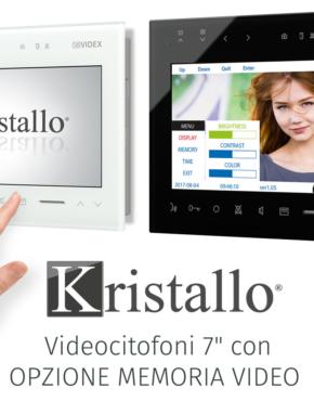 """Monitor Kristallo 7"""" con memoria video"""