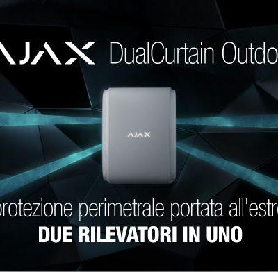 "Ajax DualCurtain Outdoor ""due rilevatori in uno"""
